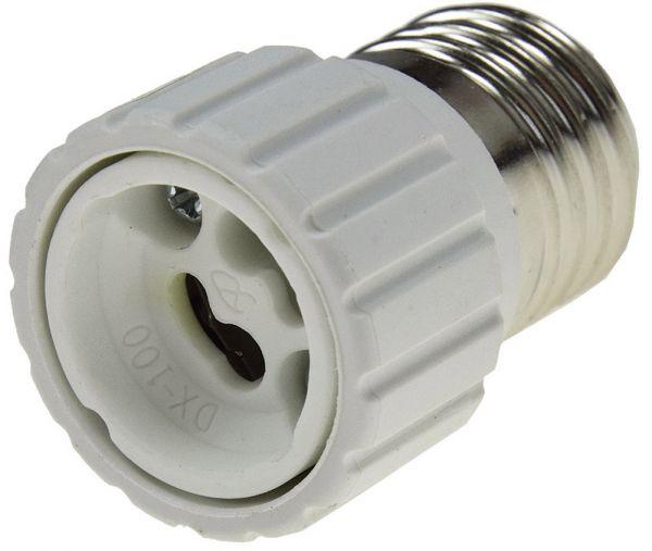 Lampensockel-Adapter, Keramik E27 auf GU10