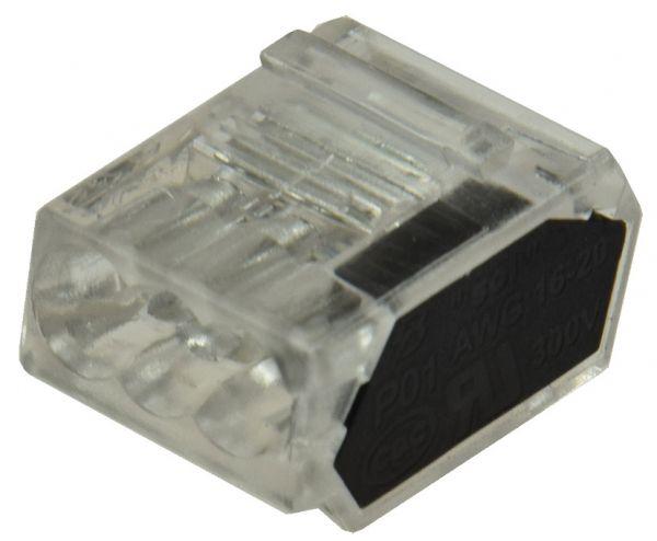Steckbare Dosenklemmen, 50er Pack 1-polig, 3 Klemmstellen, 1-2,5mm²
