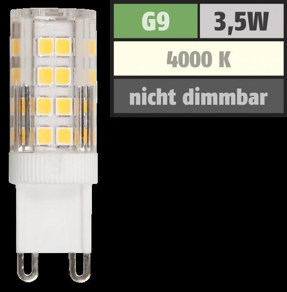 LED-Stiftsockellampe McShine, G9, 3,5W, 300lm, 4000K, neutralweiß