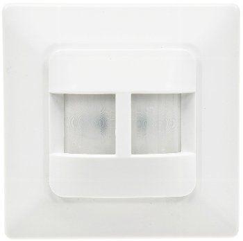 Unterputz PIR-Bewegungsmelder 180° LED geeignet, 2-Draht Technik, weiß
