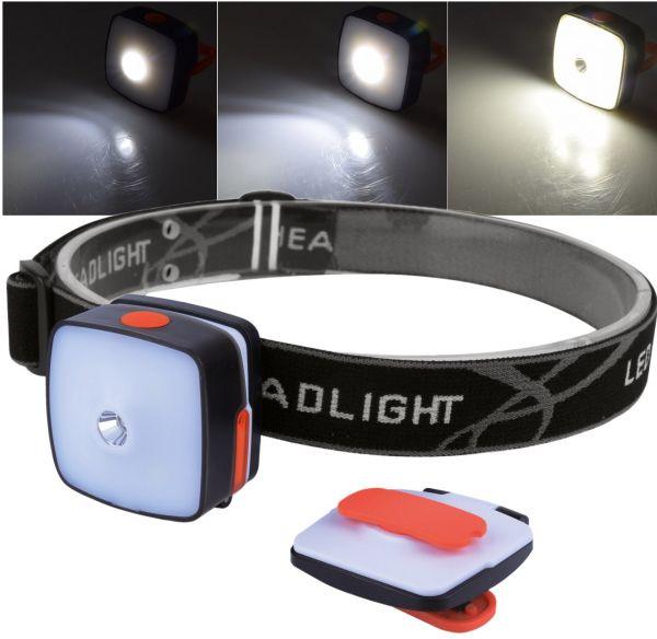 "LED-Stirnlampe mit Akku ""Headlight CTX5"" 3W Cree + 4x SMD, 150 Lumen"