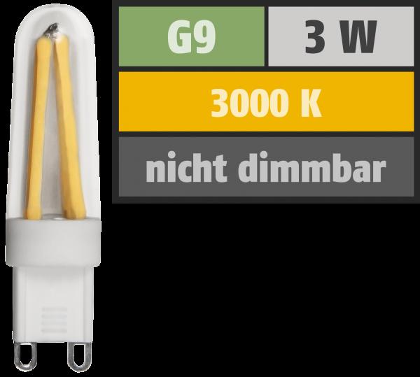 LED-Stiftsockellampe Filament McShine Silicia, G9, 3W, 300 lm, warmweiß
