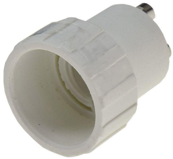 Lampensockel-Adapter, Kunststoff GU10 auf E14