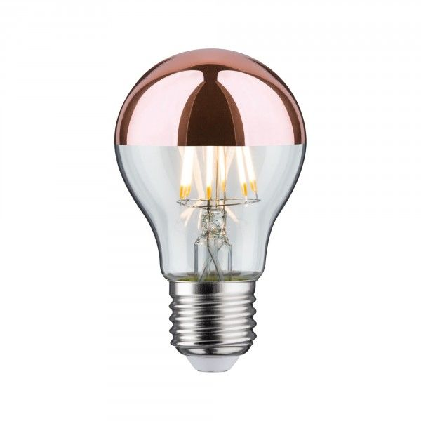 LED AGL Kopfspiegel Kupfer 7,5W E27 Warmweiß