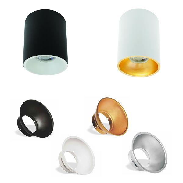 SPECTRUM LED CHLOE ELEMENTO rundes Aufbaudownlight GU10 Farbe wählbar