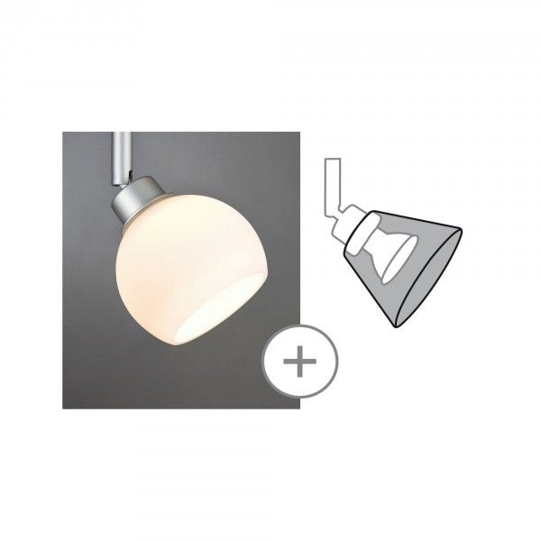 Paulmann Deko-Schirm Wolbi max. 50W Glas Opal