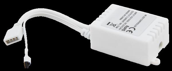 RGB-Controller für LED-Stripes inkl. Fernbedienung, RGB+weiß