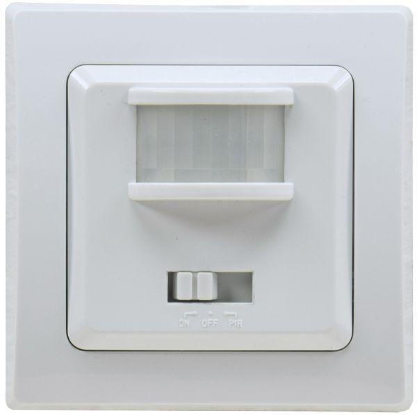 DELPHI Bewegungsmelder 160°, UP, weiß 250V~, 400W, inkl. Rahmen, LED geeignet