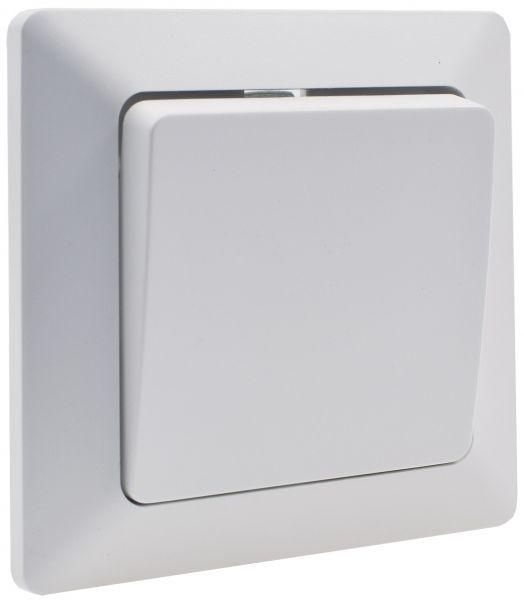 MILOS Wechsel-Schalter, UP, weiß matt 250V~/ 10A, inkl. Rahmen, Klemmanschluss