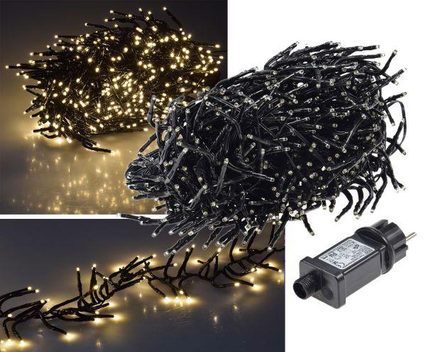"""LED Büschel-Lichterkette """"CT-BLK060"""" 6m warmweiß, 8 Effekte, IP44, 600 LEDs"""