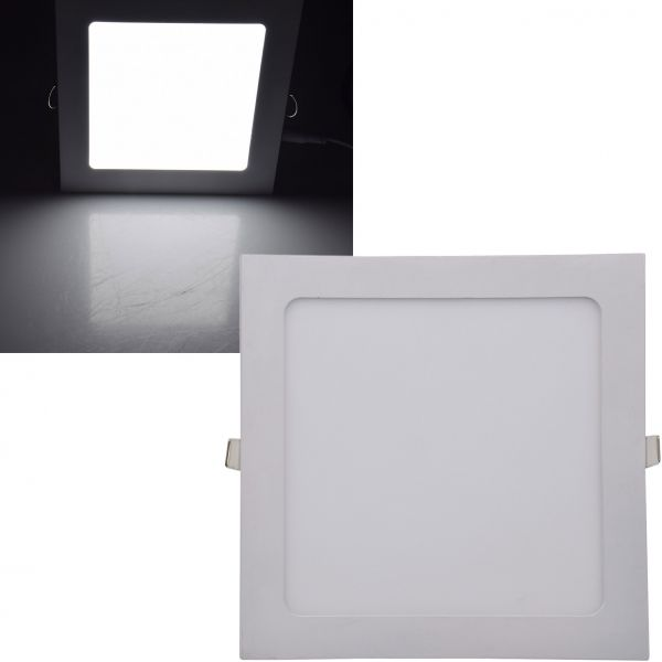 "LED Licht-Panel ""QCP-22Q"", 22,5x22,5cm 230V, 18W, 1340 Lumen,4200K /neutralweiß"