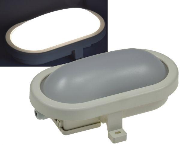 """LED Oval-Armatur """"FRL-O 06"""" IP44 Feuchtraum-Leuchte, 6W, 500lm, 4200K"""