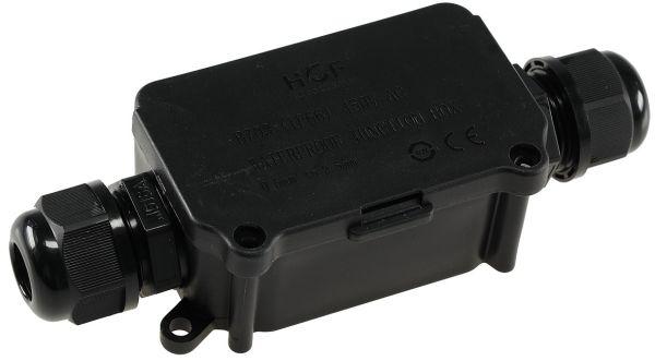 Kabelverbinderbox, 2 Anschlüsse, IP66 12V bis 230V, wasserdicht