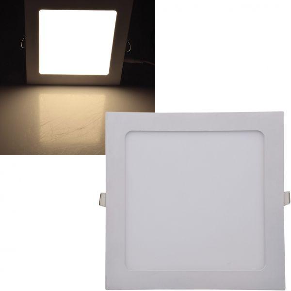 "LED Licht-Panel ""QCP-22Q"", 22,5x22,5cm 230V, 18W, 1300 Lumen, 2900K / warmweiß"