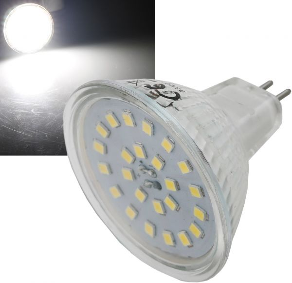 "LED Strahler MR16 ""H55 SMD"" 120°, 4000k, 420lm, 12V/5W, neutralweiß"