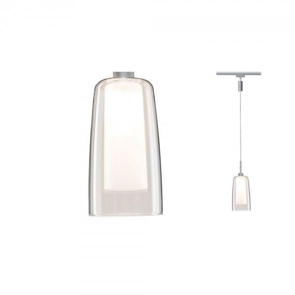 Paulmann URail LED Pendulum Arido II 5W GU10 Chrom matt mit klarem und satiniertem Glas