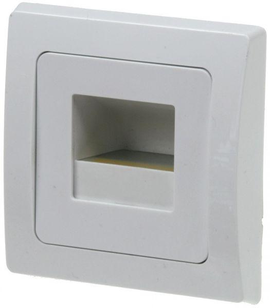 """LED-Einbauleuchte DELPHI """"COB"""" weiß 80x80mm, 3000k, warmweiß, 110Lumen"""