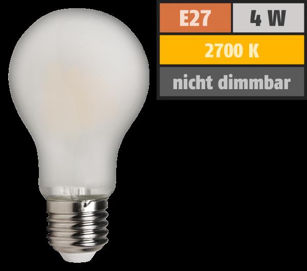LED Filament Glühlampe McShine Filed, E27, 4W, 420 lm, warmweiß, matt