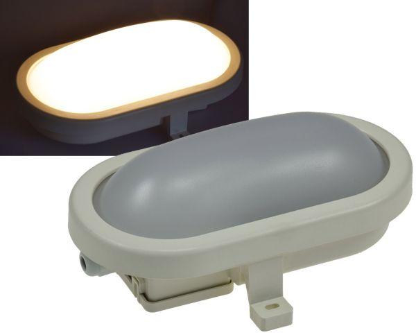 """LED Oval-Armatur """"FRL-O 06"""" IP44 Feuchtraum-Leuchte, 6W, 480lm, 3000K"""