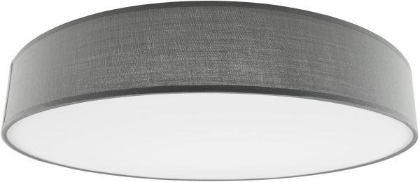 Deckenleuchte mit Textilschirm grau ØxH 50x12cm, für 4x E27 Lampe