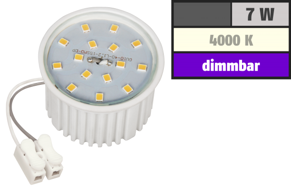 LED-Modul McShine, 7W, 510 Lumen, 230V, 50x33mm, neutralweiß, 4000K, dimmbar