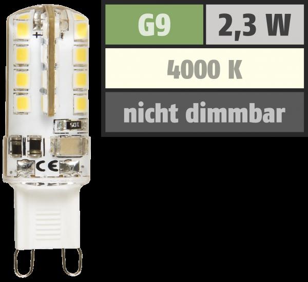 LED-Stiftsockellampe McShine Silicia, G9, 2,3W, 180 lm, weiß