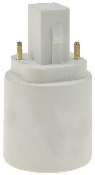 Lampensockel-Adapter, Kunststoff G24 auf E27, G24 universal d1,d2,d3