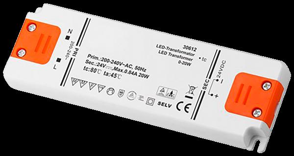 LED Trafo 20W, elektonisch, 24V DC