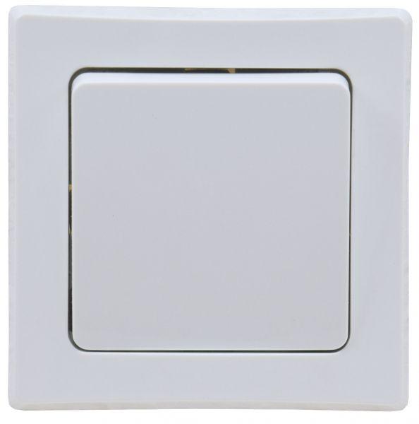 DELPHI Taster 0-250V~/ 10A, inkl. Rahmen, UP, weiß