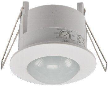 Decken-Einbau-Bewegungsmelder 360° LED geeignet, 6m Detektion, weiß