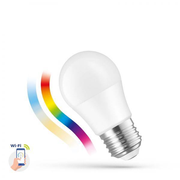 Spectrum SMART LED ball lamp, 5W E-27 Wi-Fi/Bluetooth RGBW CCT DIMM