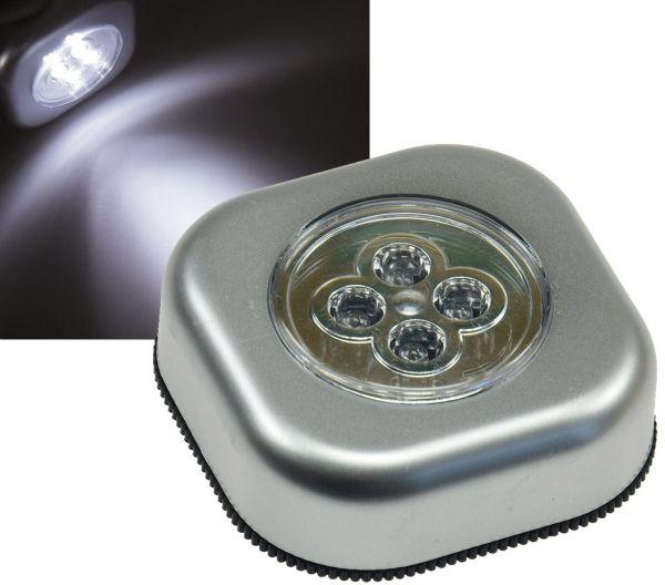 """LED Klebeleuchte mit 4 LEDs """"CTK4"""" mit Klebefolie, Maße 68x68x25mm"""