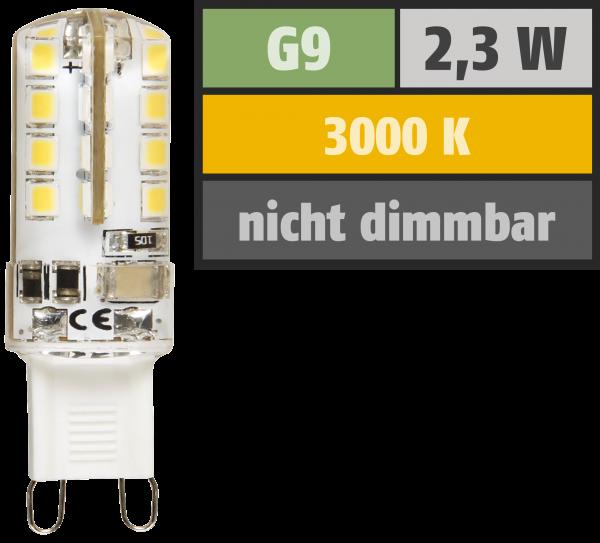 LED-Stiftsockellampe McShine Silicia, G9, 2,3W, 180 lm, warmweiß