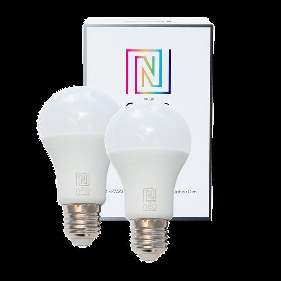 Immax Neo SMART 2er Pack LED E27 8,5W warmweiß, dimmbar, Zigbee 3.0