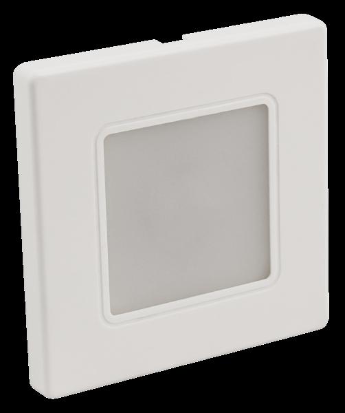 LED-Wand-Einbauleuchte McShine LWE-86W 2W, 100lm, warmweiß, weißer Rahmen