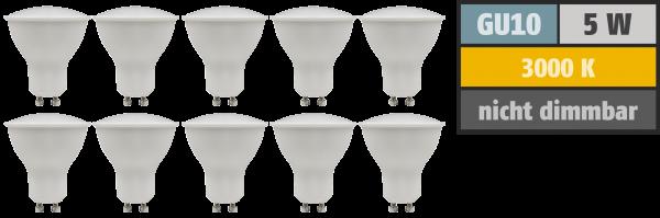 LED-Strahler McShine PV-50-10 GU10, 5W, 400lm, 110°, 3000K,warmweiß, 10er-Pack